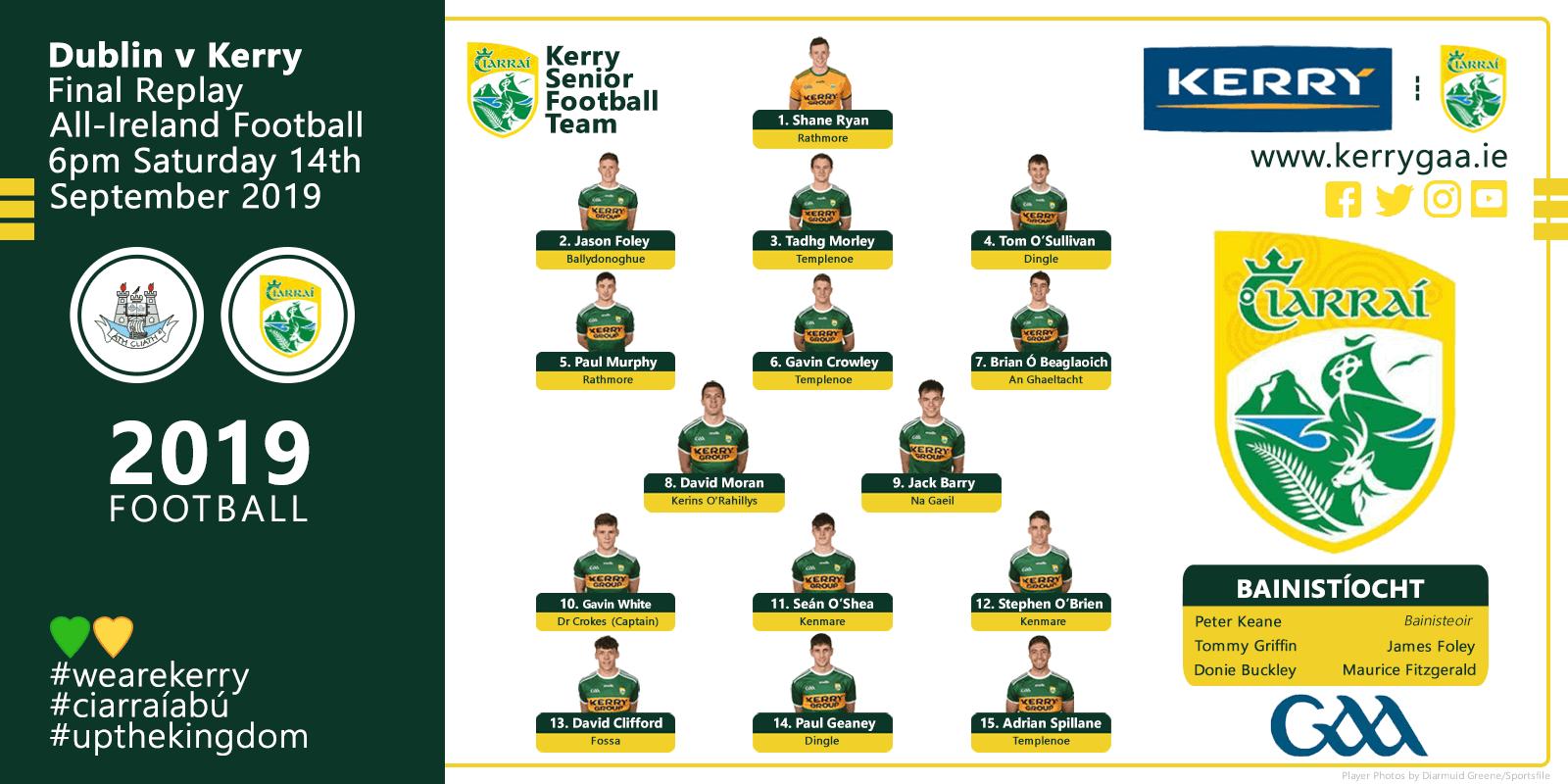 Team Announcement: Kerry vs Dublin