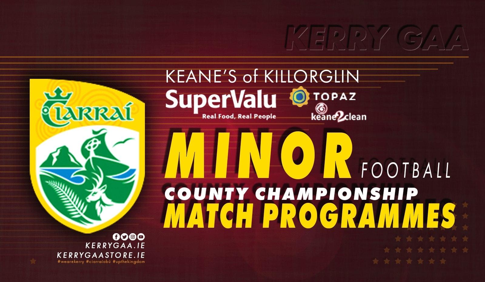 Match Programme – Minor Football Championship Final
