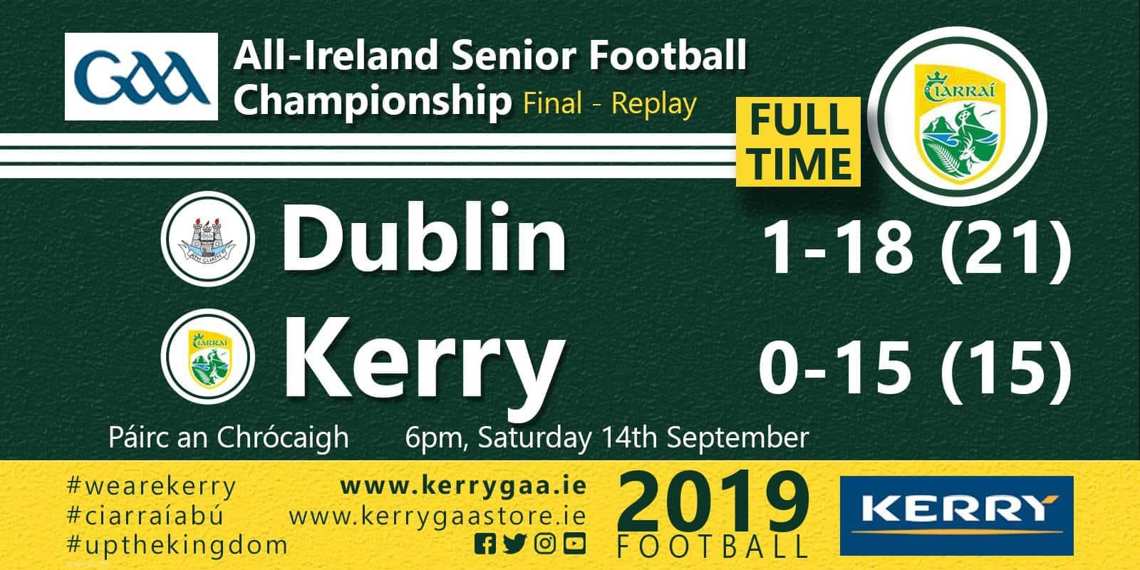 No joy for Kerry as Dublin retain title