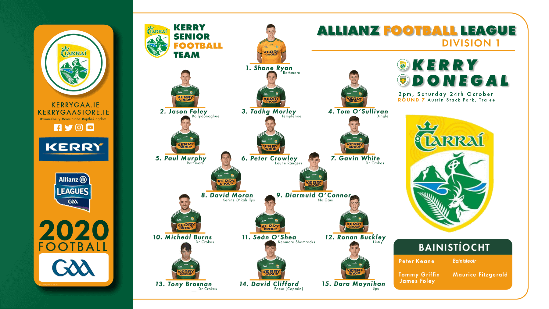 Team Announcement: Kerry vs Donegal