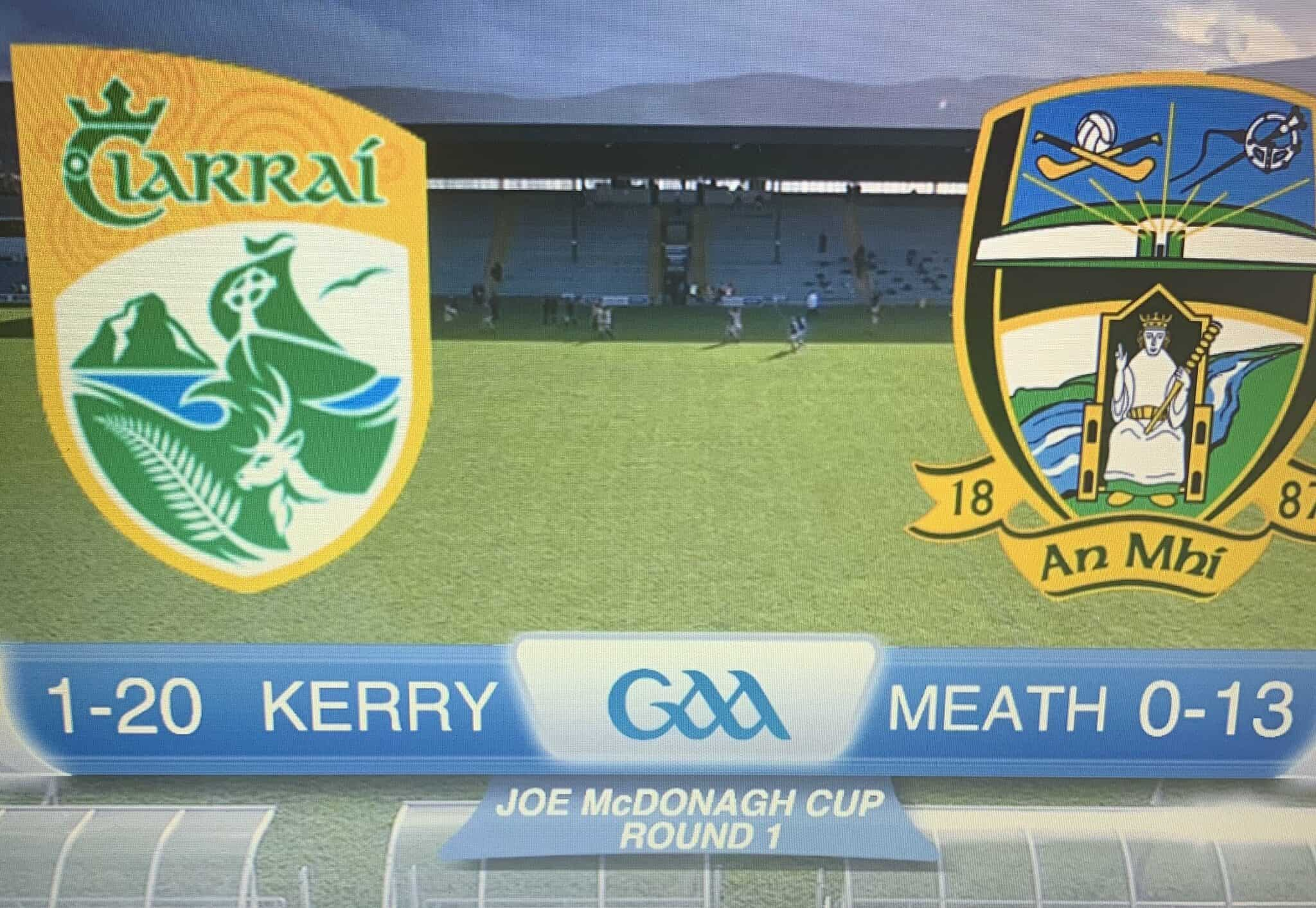 Opening Round Win for Kerry in Joe McDonagh Cup