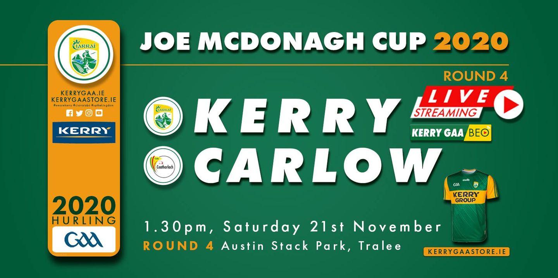 Match Programme – Kerry vs Carlow
