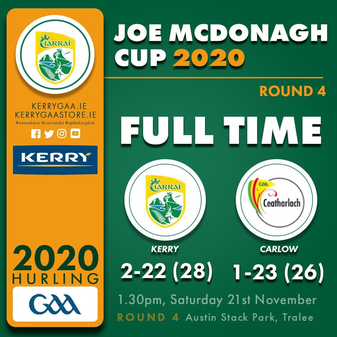 Kerry through to Joe McDonagh Cup Final