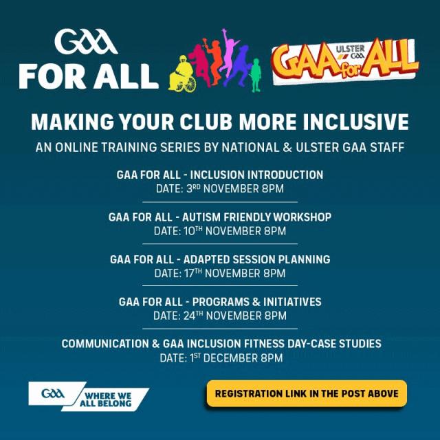 GAA for ALL – GAA National Inclusive Training Series