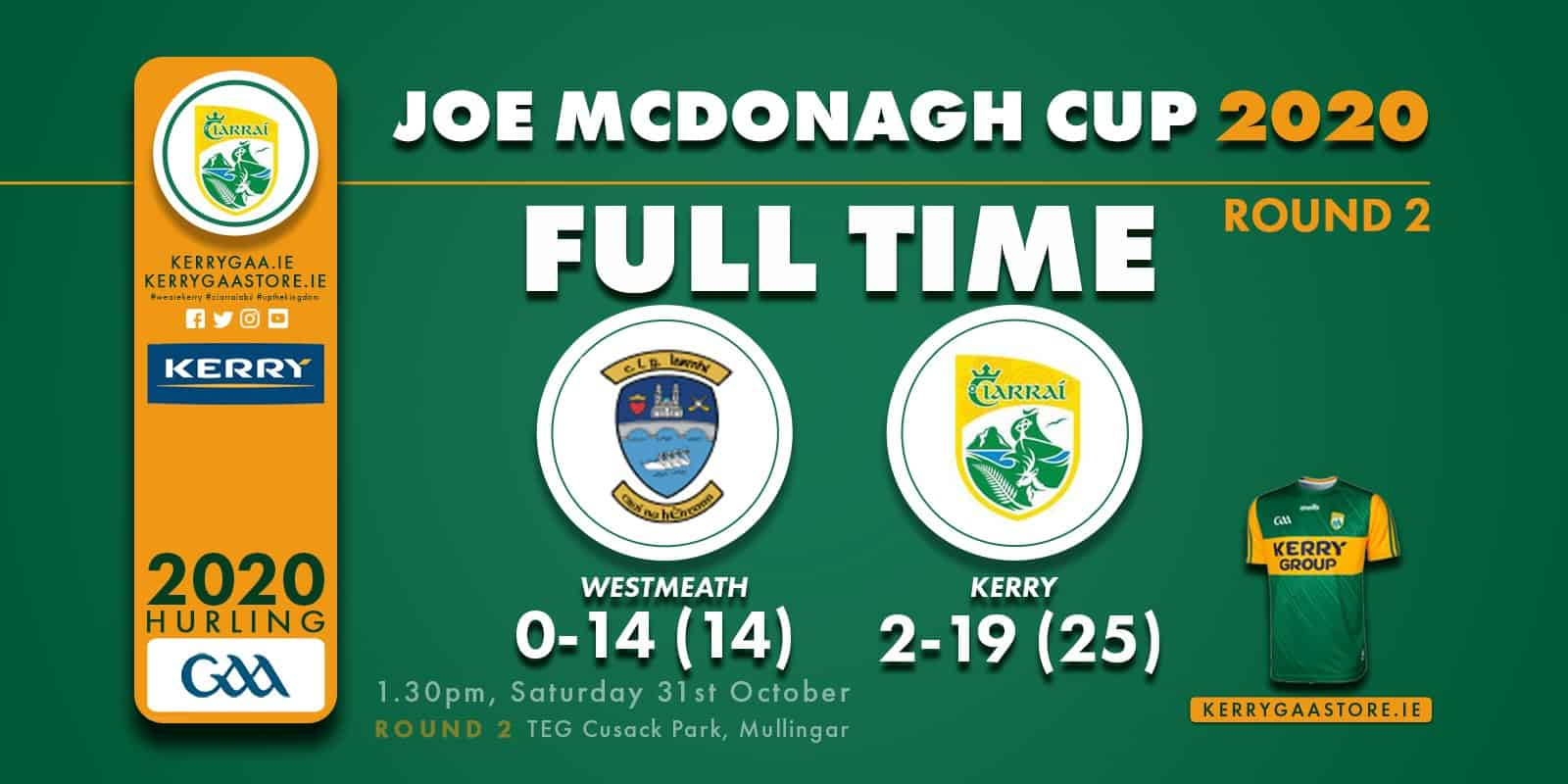 2 Wins from 2 for Kerry Hurlers
