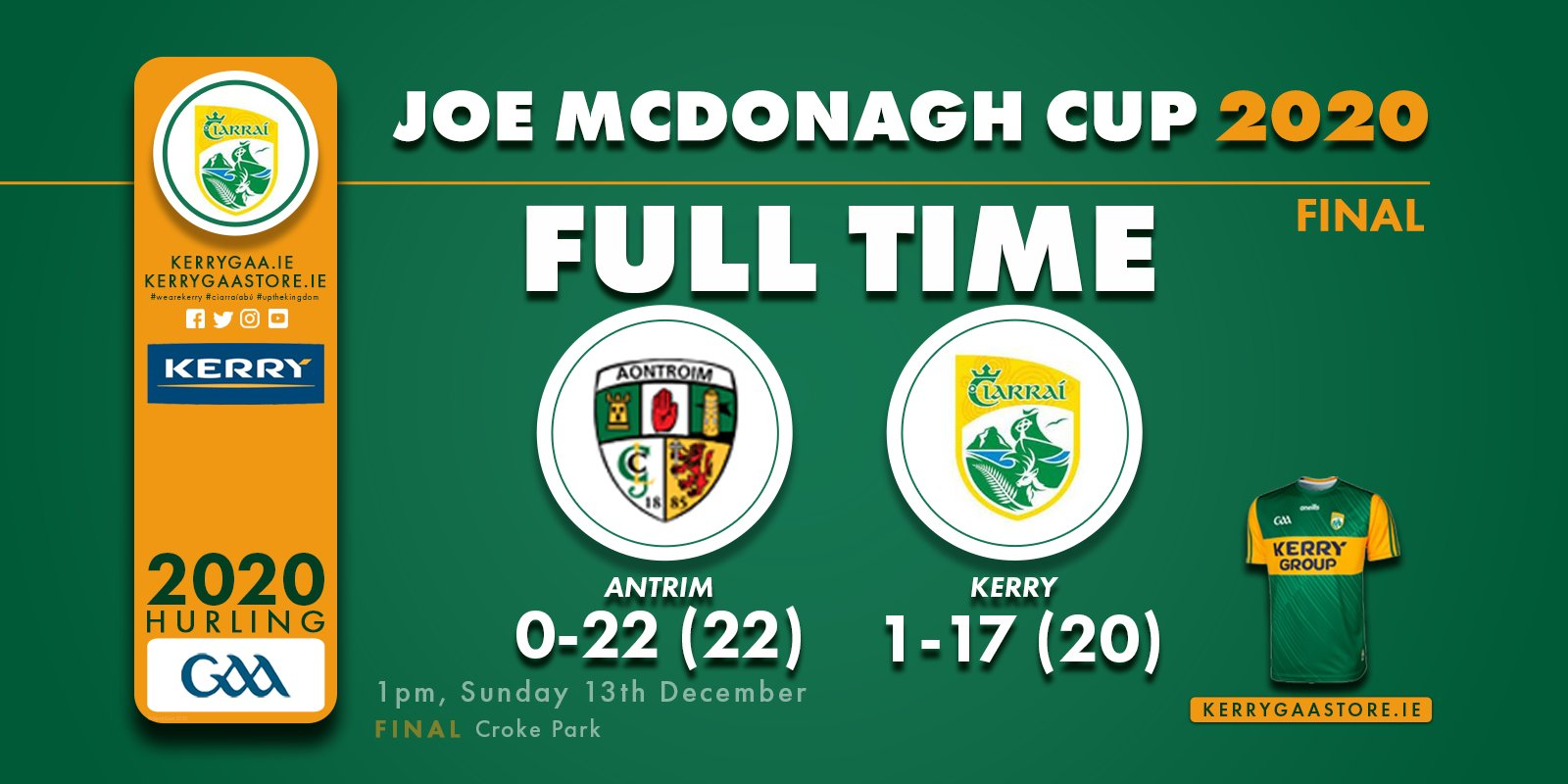 A win for Antrim in the Joe McDonagh Cup Final