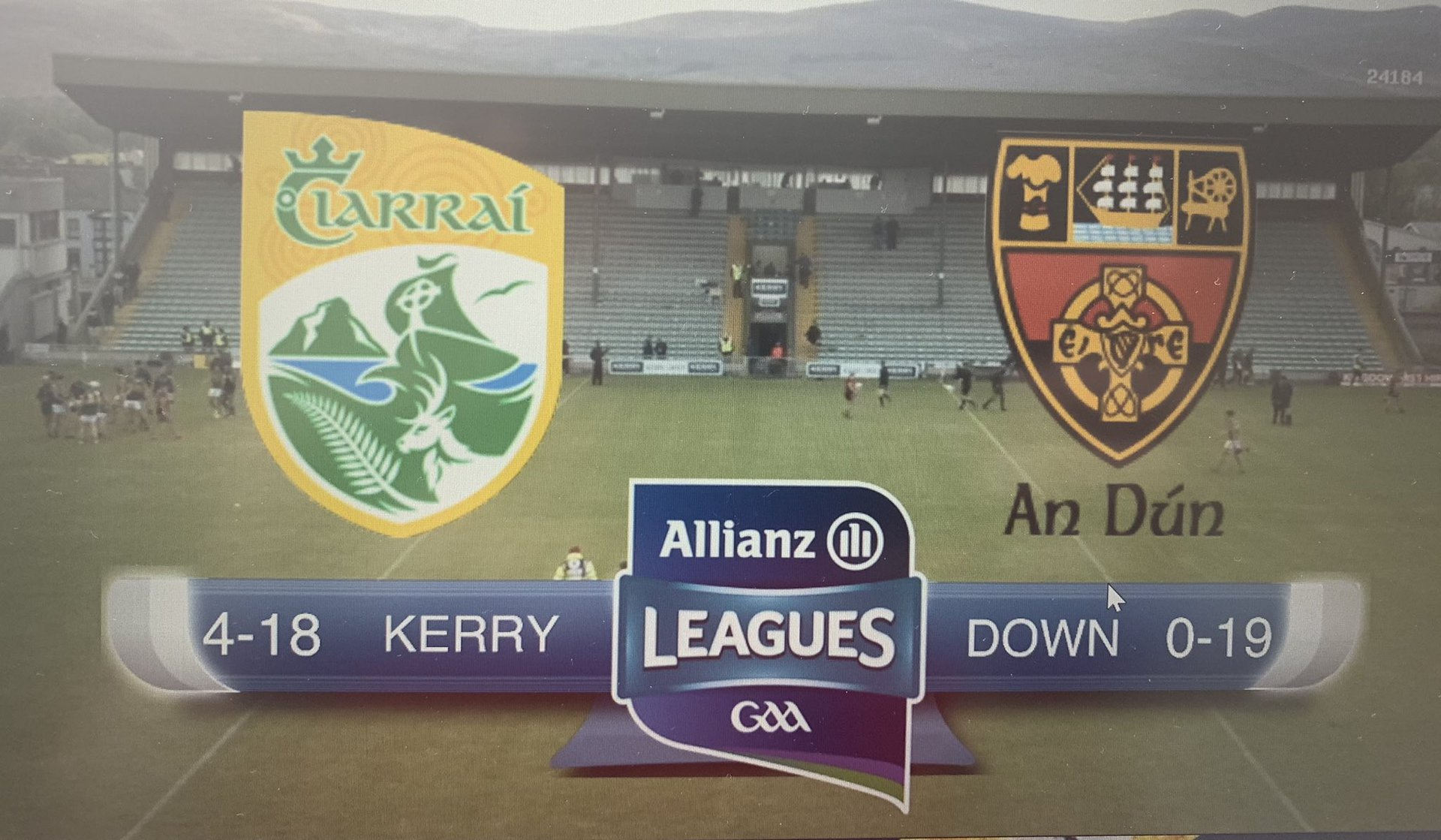Opening Round win for Kerry against Down – AHL