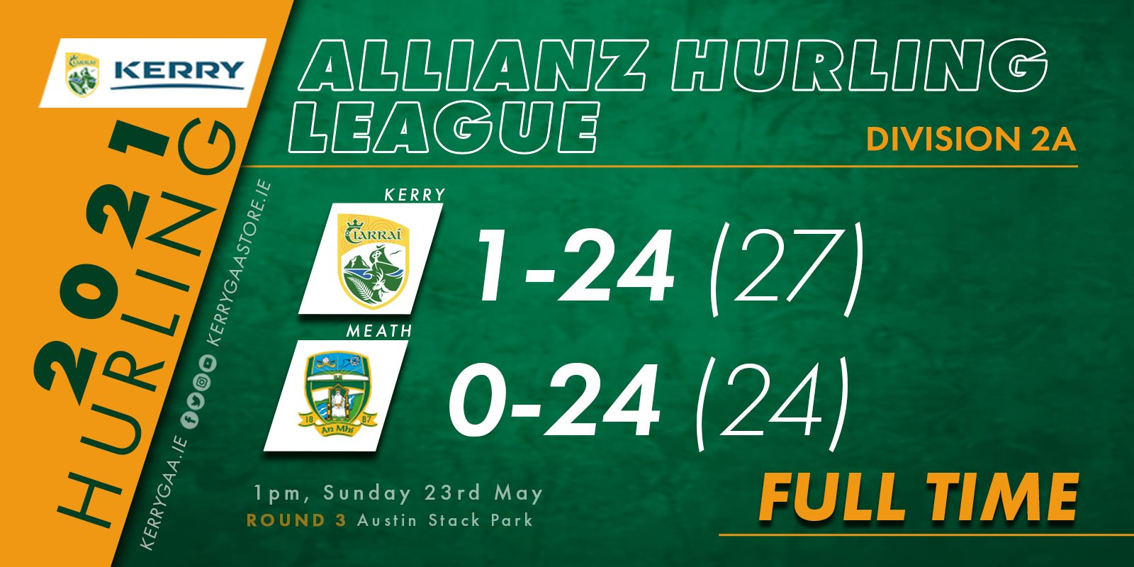 A win for Kerry over Meath in Allianz Hurling League