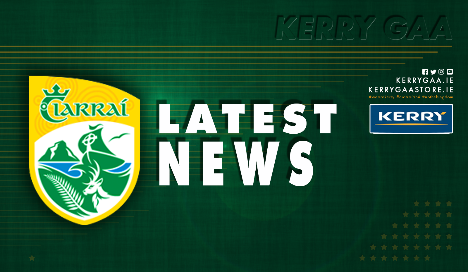 Dara O'Callaghan to Captain the 2021 Kerry Minors
