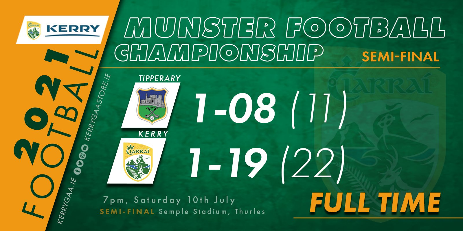 Munster Final awaits for Senior Footballers with semi-final win over Tipperary