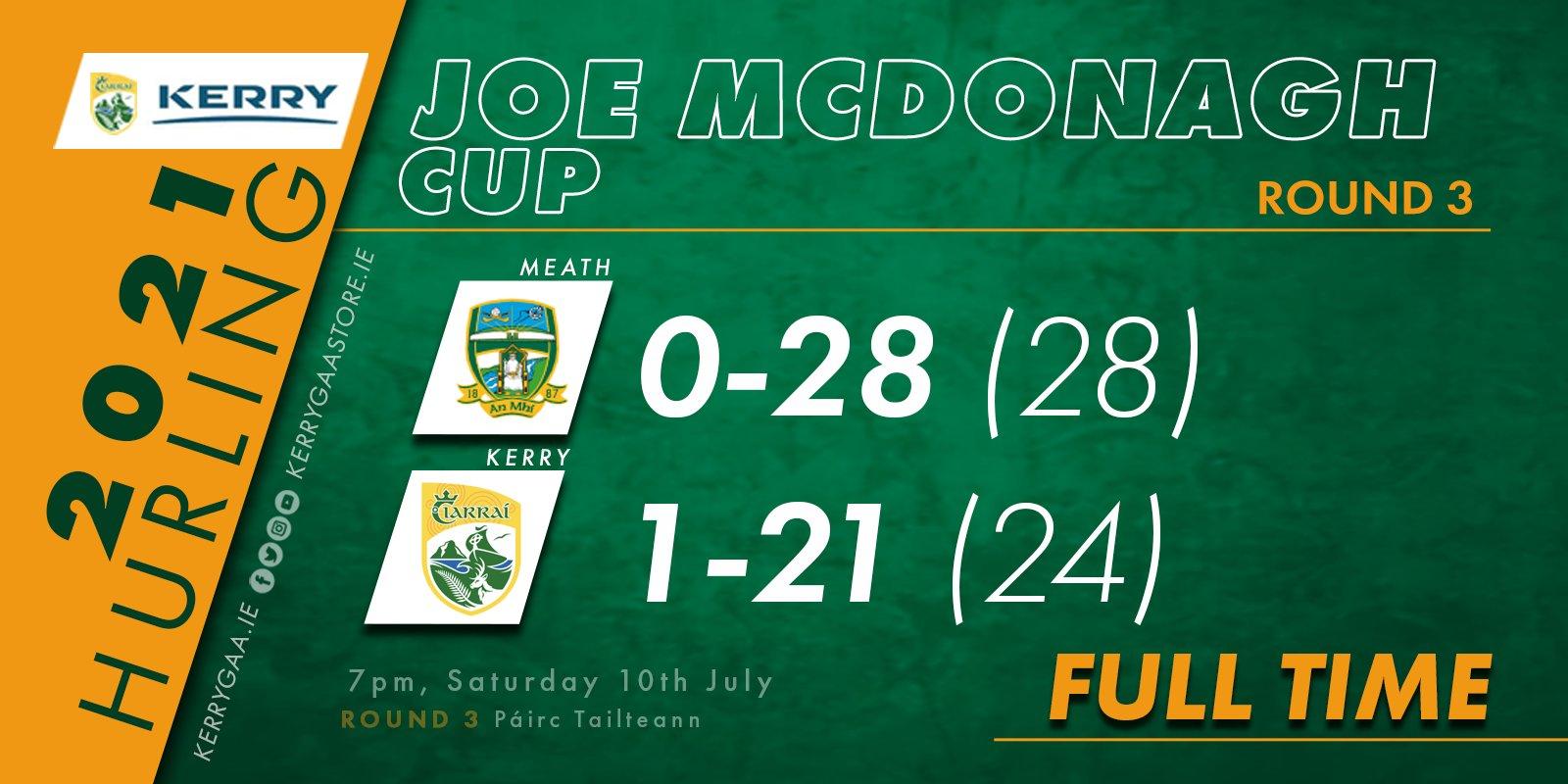 Joe McDonagh Final place secured despite Meath defeat