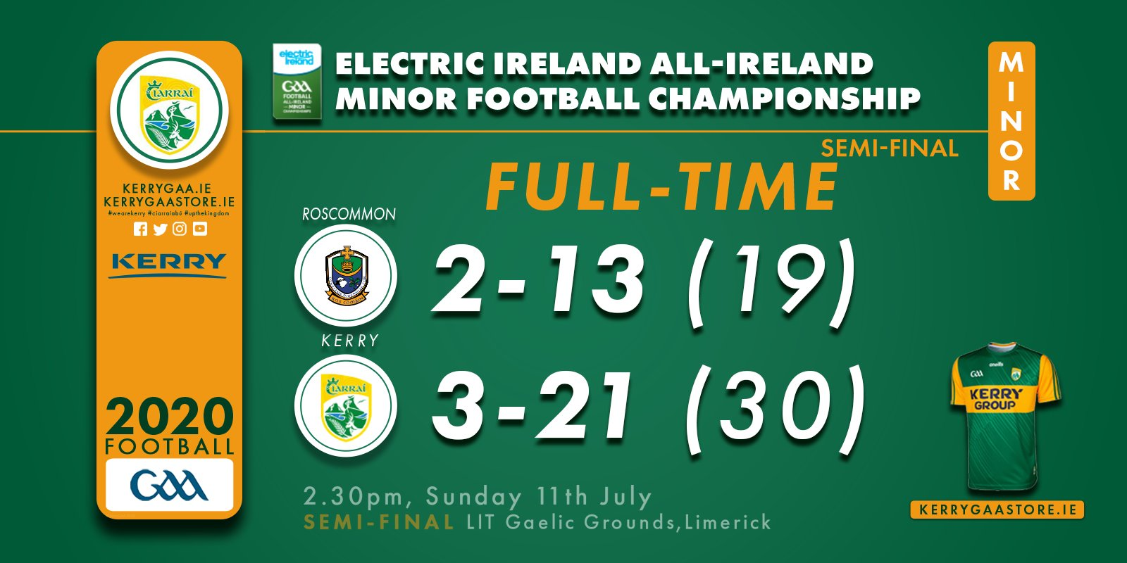 All Ireland Final awaits for 2020 Minors with impressive win over Roscommon