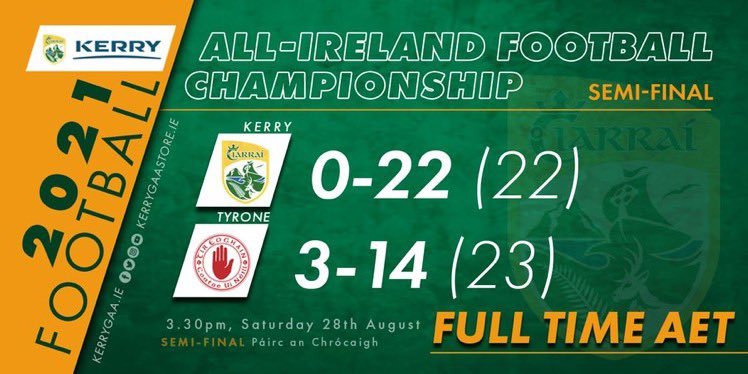 Defeat for Kerry in 2021 All Ireland Semi Final